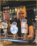photo of the ales on tap at the Three Horseshoes Inn at Allensmore near Hereford